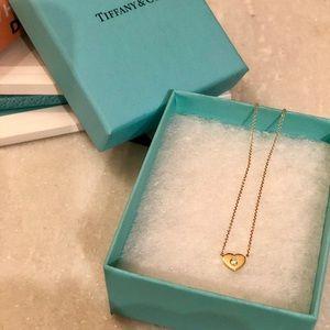 Tiffany & Co. 18K Yellow Gold Pendant w Diamond